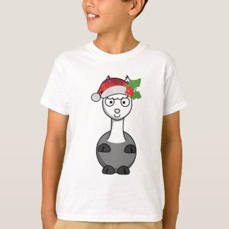 Alpaka Weihnachten Weihnachtsmann T-Shirt