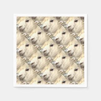 Alpaka weiß papierservietten