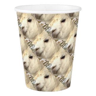 Alpaka weiß pappbecher