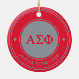 Alpha Abzeichen des Sigma-Phi-| Keramik Ornament