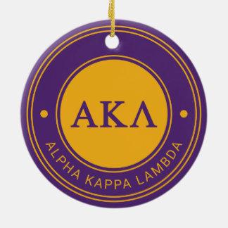 Alpha Abzeichen Kappa-Lambdas | Keramik Ornament