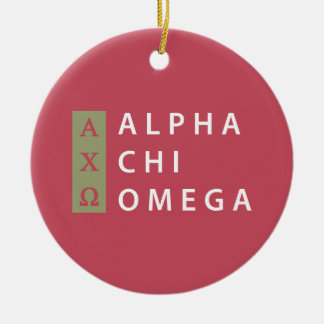 Alpha Chi-Omega| Staplungslogo Keramik Ornament