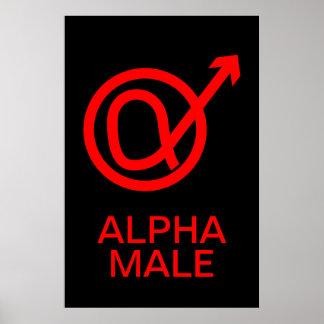 Alpha-Männchen-Zeichen Poster