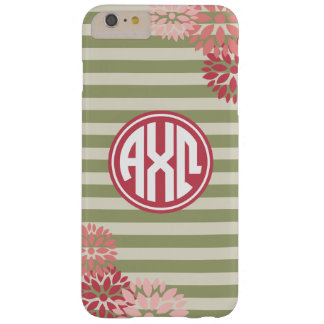 Alpha Monogramm-Streifen-Muster Chi-Omegas | Barely There iPhone 6 Plus Hülle