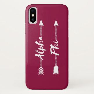 Alpha Pfeile des Phi-  iPhone X Hülle