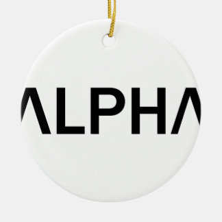 Alpha (SCHWARZES) Keramik Ornament
