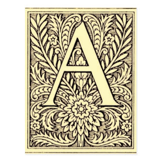 Alphabet-Buchstabe A Postkarte