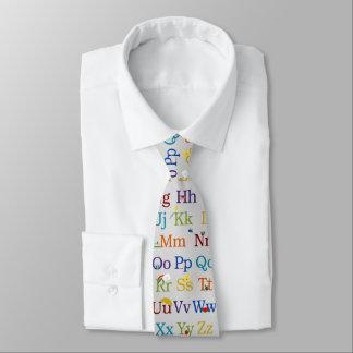 Alphabet-Entwurf Krawatte