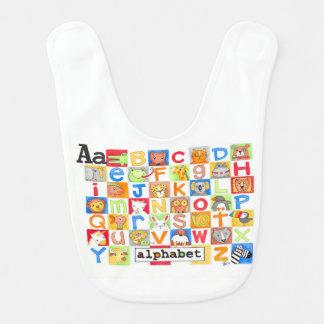 Alphabet-Schellfisch Babylätzchen