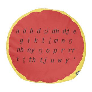 Alphabet-Schemel Hocker