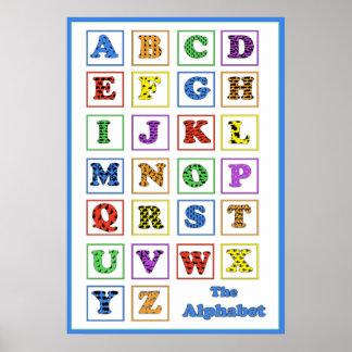 Alphabet-Tier-Silhouetten Poster