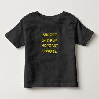 Alphabetdruck des Kindes Kleinkind T-shirt