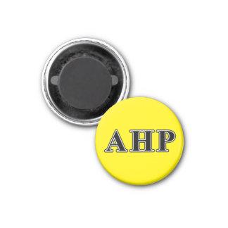 AlphaEta Rho-gotische Schriften Runder Magnet 3,2 Cm