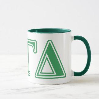Alphagamma-Deltagrün-Buchstaben Tasse