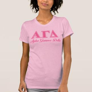 Alphagamma-Deltarosa-Buchstaben T-Shirt