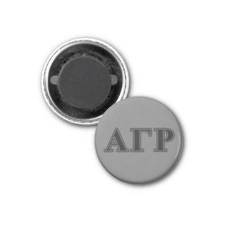 Alphagammarho-gotische Schriften Runder Magnet 3,2 Cm