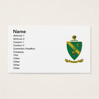 Alphagammarho-offizielles Wappen Visitenkarte