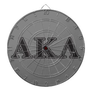 Alphakappa-Lambda-gotische Schriften Dart-scheibe
