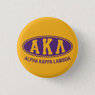 Alphakappa-Lambda | Vintag Runder Button 2,5 Cm