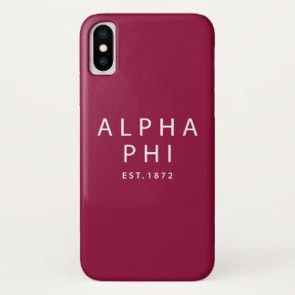 Alphaphi   Est. 1872 iPhone X Hülle