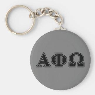Alphaphi-Omega-gotische Schriften Standard Runder Schlüsselanhänger