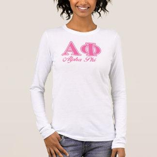 Alphaphi-Rosa-Buchstaben Langarm T-Shirt