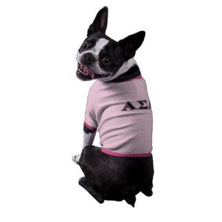 Alphasigma-Alpha-gotische Schriften Ringer Hunde-Shirt