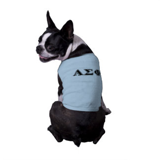 Alphasigma-Phi-gotische Schriften Ärmelfreies Hunde-Shirt