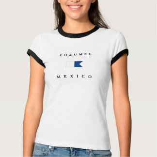 Alphatauchen-Flagge Cozumel Mexiko T-Shirt