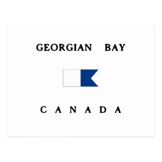 Alphatauchen-Flagge georgische Bucht-Kanadas Postkarte