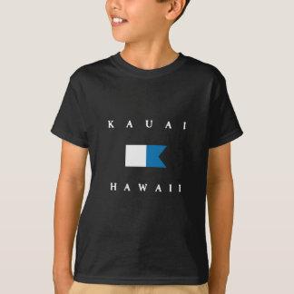 Alphatauchen-Flagge Kauais Hawaii T-Shirt