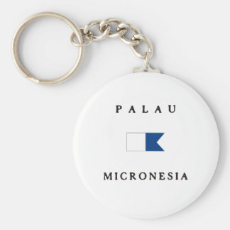 Alphatauchen-Flagge Palaus Mikronesien Schlüsselanhänger
