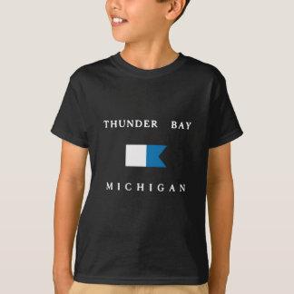 Alphatauchen-Flagge Thunder Bay Michigan T-Shirt