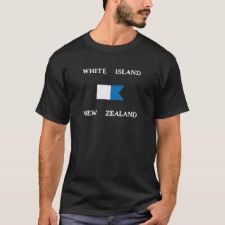 Alphatauchen-Flagge weiße Insel-Neuseelands T-Shirt