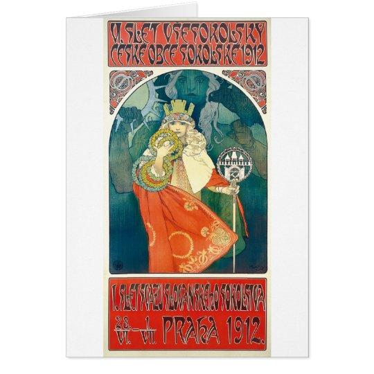 Alphonse Mucha 6. Sokol Festival, 1912 Grußkarte