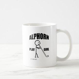 Alphorn Spiel-Mädchen Kaffeetasse