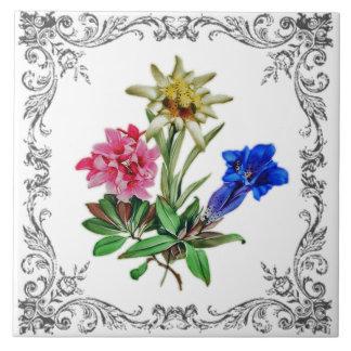 Alpine Blumen Fliese