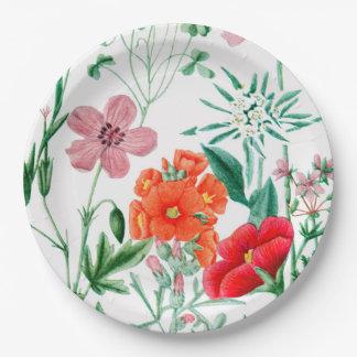 Alpiner Blumen-Garten-Party-Papier-Teller Pappteller