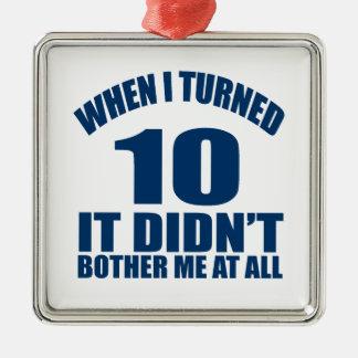Als ich 10 drehte, tat es nicht Bothre ich an Silbernes Ornament