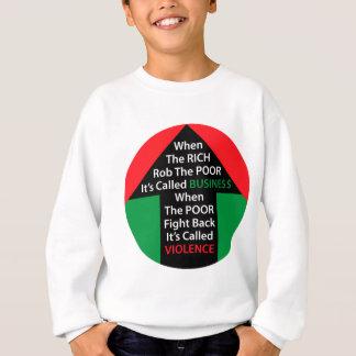 Als REICHE Rob-ARMEN nannten, bekämpfen Sweatshirt