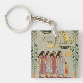 Alte ägyptische Leute Keychain Schlüsselanhänger