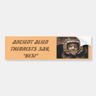 Alte alien-Theoretiker, sagen ja Autoaufkleber