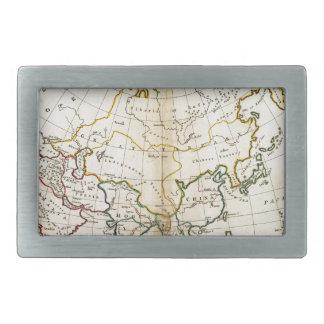 Alte Asien-Karte 1799 Rechteckige Gürtelschnalle