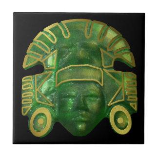 Alte aztekische Sun-Maske Keramikfliese