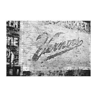 Alte Backsteinmauer Ann Arbors Michigan Vernors Gespannter Galeriedruck