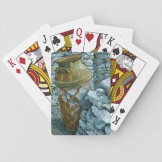 Alte Bauernhof-Kunst-Spielkarten Spielkarten