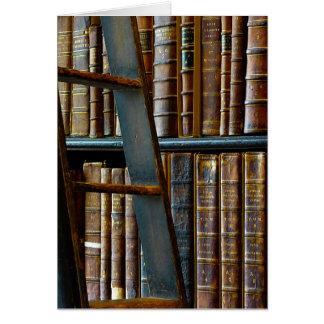 Alte Bibliothek, alte Bücher Karte