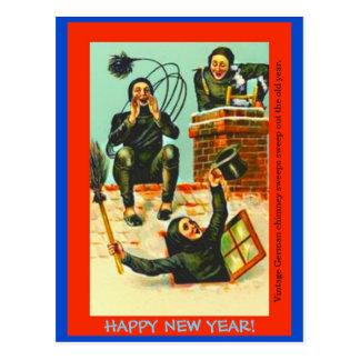 Alte deutsche neues Jahr-Postkartenkopie Postkarte