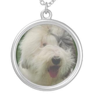 Alte englische Schäferhund-Halskette Halskette Mit Rundem Anhänger