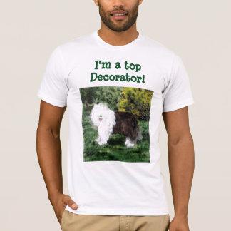Alte englische Schäferhund-Malerei T-Shirt